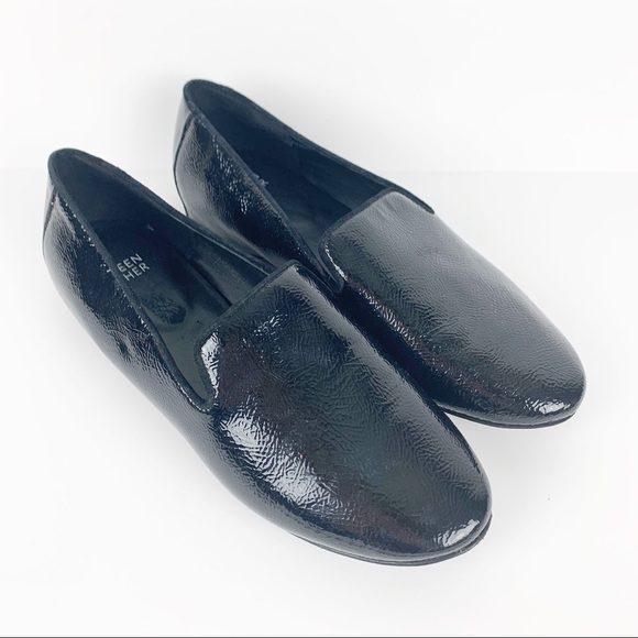 Eileen Fisher Hidden Wedge Patent Leather Loafer